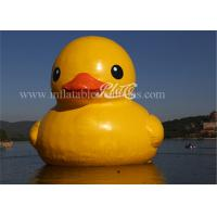 China Yellow Large Inflatable Floatable Rubber Duckies Cool Lovely EN15649 wholesale