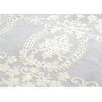 China Polyester Voile Curtain Fabric Embroidery Contemporary Decoration wholesale