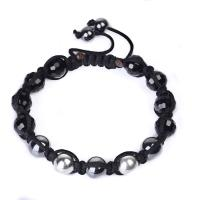 China 925 Silver / Stainless Steel Material Crystal Beaded Bangle Bracelets CJ-B-164 wholesale