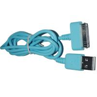 China Blue USB2.0 Charge & Sync Cable to 30 Pin Connector Cable wholesale