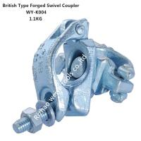China Original , silver EN74 forged double scaffold swivel clamp for pipe scaffolding wholesale
