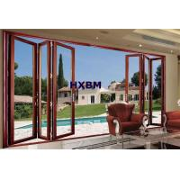 China Large Size Aluminum Folding Doors Color Customized Double Glazed Powder Coated wholesale