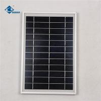 China 6V 6W Aluminum frame solar panel for portable solar charger ZW-6W-6V Glass Laminated Solar Panel wholesale