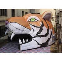 China Oxford Cloth Inflatable Party Tent Inflatable Tiger Head Tunnel For Sports Games wholesale
