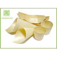 Buy cheap New Type Wooden Sushi Boat Pinewood Food Cones For Party Snacks from wholesalers