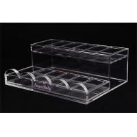 China Acrylic Retail Display StandsNail Polish ShelfClear 285×215×100 Mm For Makeup Shop wholesale