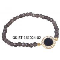China Women's charming and shiny crystal agate beads bracelet with different colors for choice wholesale
