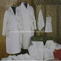 China 100% Cotton Toweling Bathrobe on sale