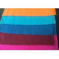 China Plain Style Merino Wool Fabric Melton Cloth Fabric For Suit , Orange Blue Red wholesale