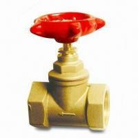 China Brass Gate Valve with Iron Handle, Brass Body and Stem wholesale