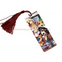 China PET 3D Lenticular Personalised Book Marks  With CMYK Printing 0.65 Mm Thickness wholesale