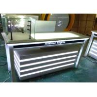 China Attractive Lighted Jewelry Display Case Fully White Lacquer Color Surface wholesale