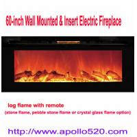 China 60 Built-in Wall Mount Electric Fireplace wholesale