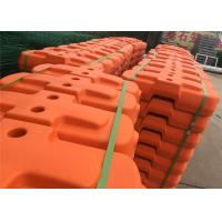 China Temp Fence Panels Base Red and Orange Color Available Customized Hole 25mm 28mm 32mm 38mm 40mm etc UV 531 treated wholesale