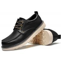 China Handmade Mark Thread Mens Formal Leather Shoes , Tan Color Casual Winter Shoes wholesale