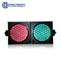 China High Brightness 100mm Traffic Light , Dust Resistantance LED Traffic Signal Lights wholesale
