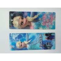 China Frozen Design PET 3D Lenticular Bookmarks For Christmas 152 X 57 MM Size wholesale