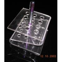 China 4mm Transparent z-Shape Acrylic Stationery Holder Rack For 10pcs Pens wholesale