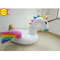 Buy cheap Giant Pool Inflatable Water Floats Rainbow Color Pegasus Raft 210 x 190 x 130cm product