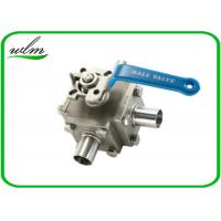 Quality Sanitary Full Bore Ball Valve Clamp / Thread / Weld / Flange 3 Way , Non Retention for sale