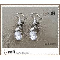 China Fashion design 925 sterling silver gemstone earrings with OPP bag packing  W-AS1086 wholesale