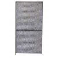 China Security Woven Wire Mesh Partition Panels 10 Gauge Clinched 8 Feet High 5 Feet Width wholesale