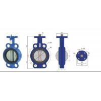 China high temperature Stainless Steel  Wafer Type Headless Butterfly Valve With Back Seat wholesale