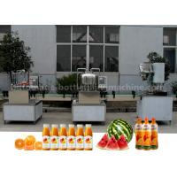 China Orange Small Scale Juice Bottling Equipment , Rotary Sealing Automatic Bottle Filling Machine on sale