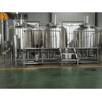China Three Vessels Brewhouse Equipment , 20HL Craft Brew House With Double Stage Cooling System wholesale