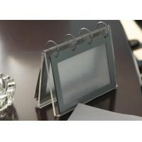 Quality Office Clear Acrylic Calendar Holder , Custom Desk Calendar Stand for sale