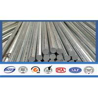 China Silver Galvanized Steel Electrical Power Pole For Transmission Galvanized Line wholesale