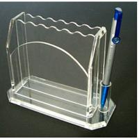 China Clear 3mm Acrylic Stationery Holder With Notes Box 5 * 7 * 8cm wholesale