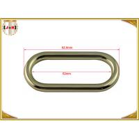 China 50 x 4mm Oval Key Holder Metal Belt Loops , Stainless Steel / Metal O Rings Hardware wholesale