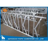 China 7 place Locking Feed Barriers , Dairy Cow Headlock Feed Lines Fence wholesale