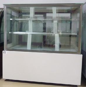 China White / Black Back Sliding Door Commercial Cake Display Freezer Showcase wholesale