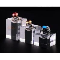 China Acrylic Jewellery Display Stands Diamond Ring Ring Display Tray Plinth Cube Crystal Shrink wholesale