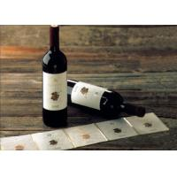 China Adhesive Paper Wine Label Stickers , Spot UV Surface Handle Printable Wine Labels wholesale