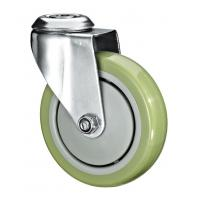 """Quality 5""""X1-1/4 Customized PU Caster Wheel With Swivel Kingpin Fitting for sale"""