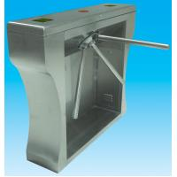 China Manual 304 stainless steel Security tripod turnstile gate with fingerprint access wholesale