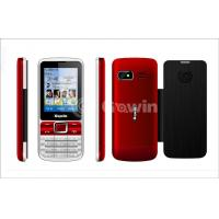 China Red / Black Dual Sim Cards Dual Standby Phone wholesale