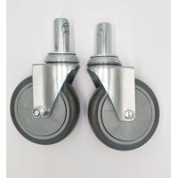 China Carts 5 Inch Caster Wheels , Shelf Metal Food Service Equipment Casters wholesale