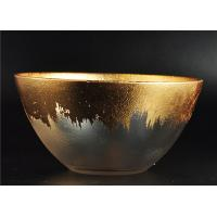 China Clear Bowl Shape Glass Candle Holder with Golden Coating for Wedding Decor wholesale