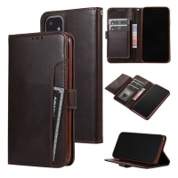 China Kickstand IPhone11 Leather Flip Phone Case With Credit Slots wholesale