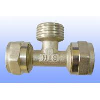 China compression brass fitting male tee for PEX-AL-PEX wholesale
