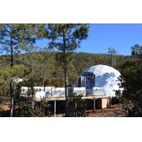 China White PVC Wind Resistant Sidewall Party Geo Dome Tent With Steel wholesale