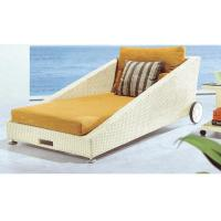 China 2 wheels waterproof fabric rattan sun lounger / daybed/ sunbed   ---YS6000 wholesale