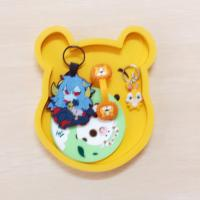 Quality Japanese Rilakkuma Low price with High quality Soft PVC Coaster With Holder for sale