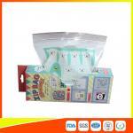 HDPE Plastic Custom Printed Ziplock Bags / Resealable Personalized Packaging