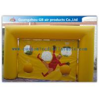 China Popular Yellow Small Inflatable Soccer Game For Football Throwing Exercise wholesale