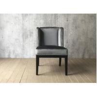 China Grey Velvet Fabric Hotel Dining Chairs Indoor , French Style Dining Chairs wholesale